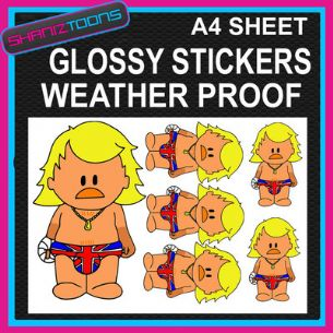 KEITH LEMON INSPIRED CARTOON CAR BUMPER WEATHER PROOF STICKERS MIXED SIZES - 160787035965